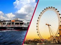 Coca Cola London Eye Tickets with Bateaux Classic Sunday Lunch Cruise for Two
