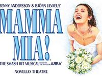 Top Price Tickets to Mamma Mia and a Meal for Two